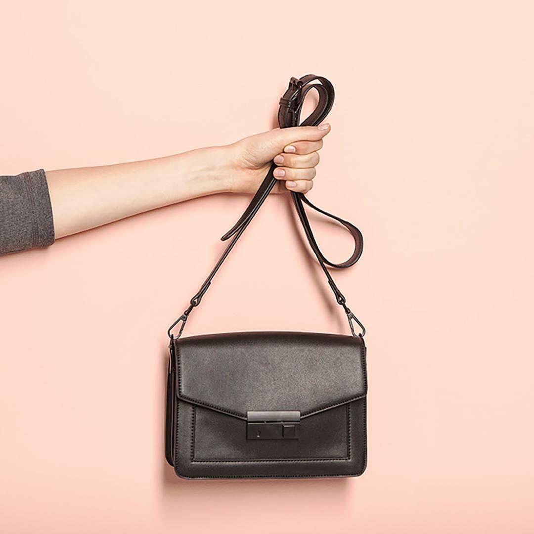Black Rectangular Hand Bag
