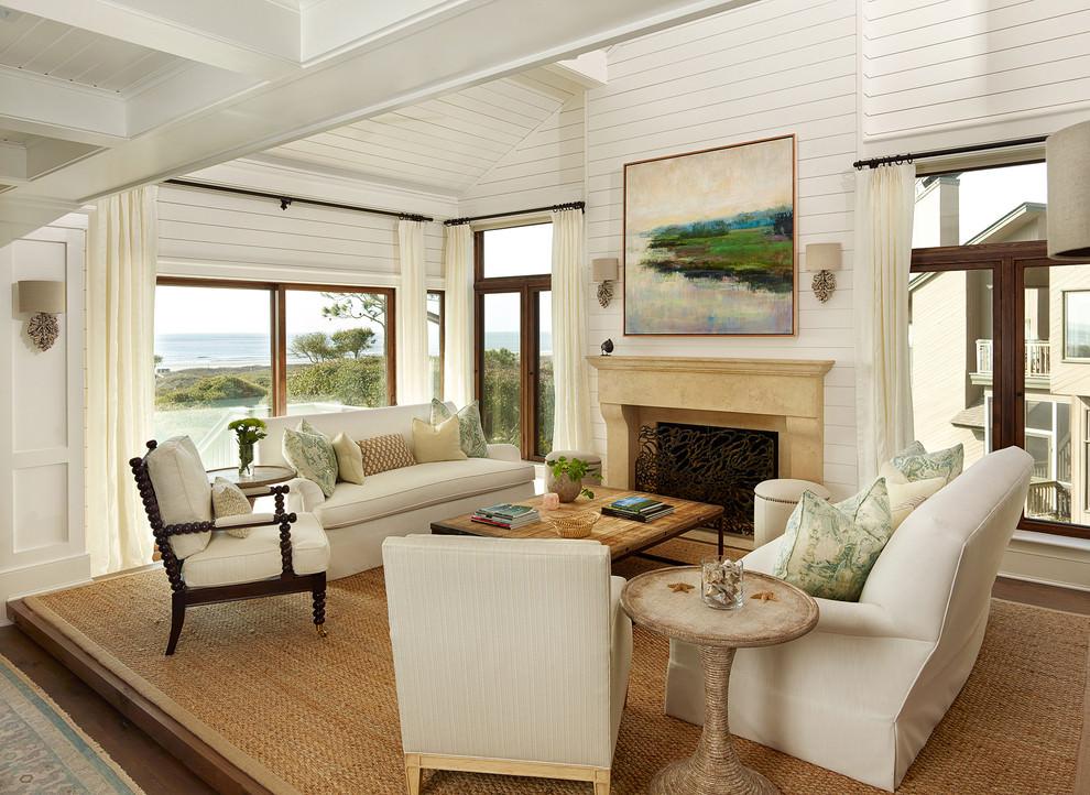 Sophisticate Beach Living Room Design