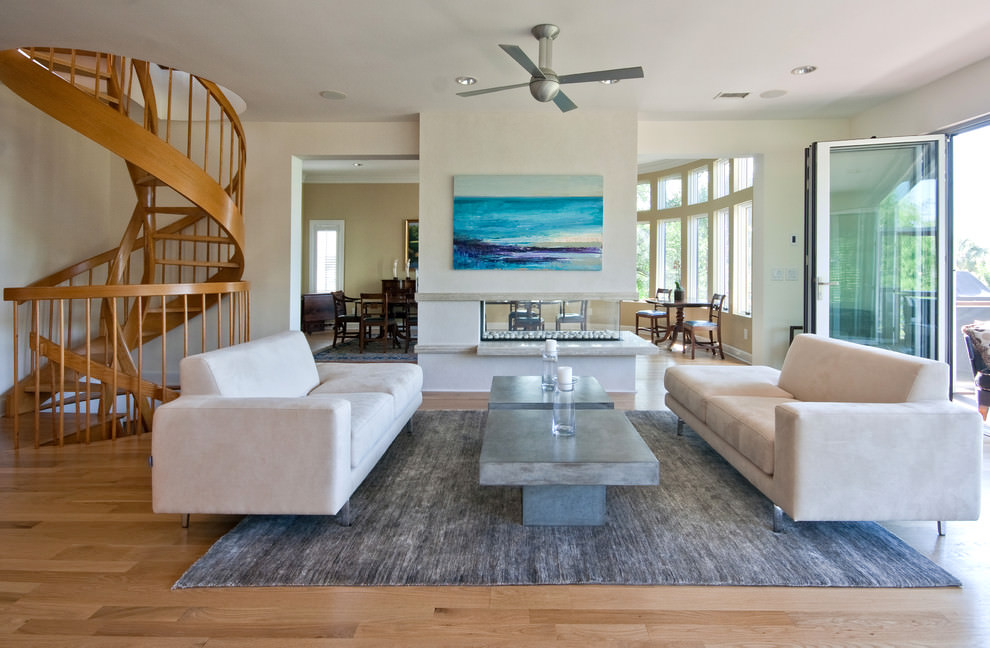 22 beach living room living room designs design trends for Coastal contemporary design