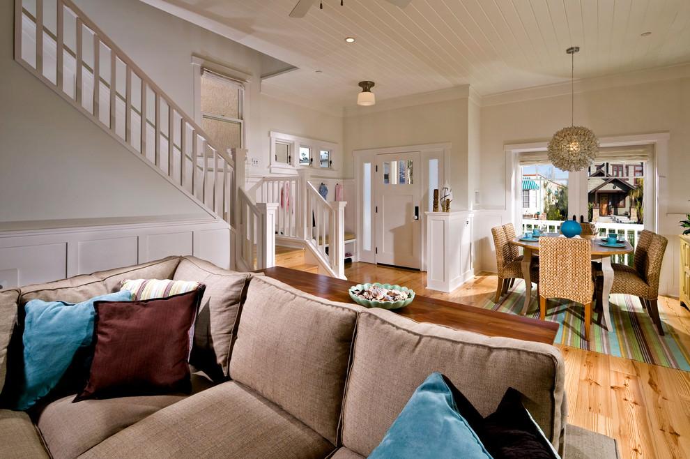 Tropical Beach Living Room Design