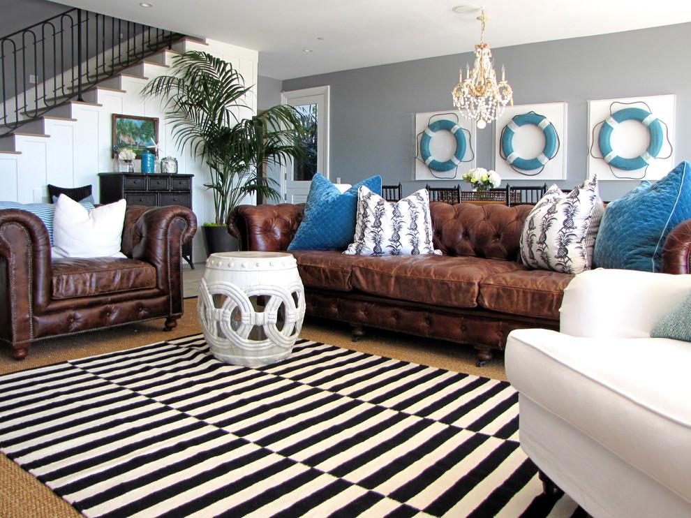Sassy Beach Living Room Design