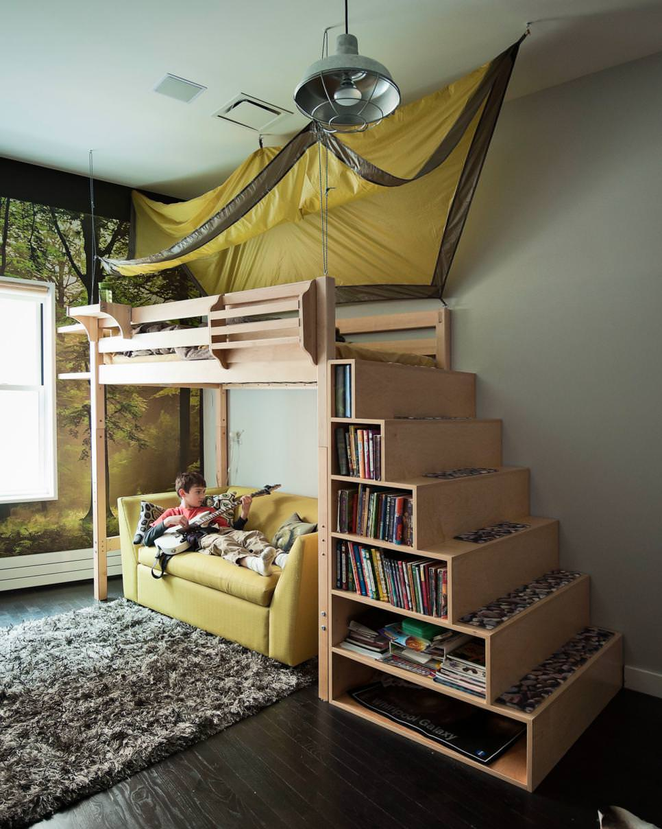 Bunk Bed Staircase Bookcase