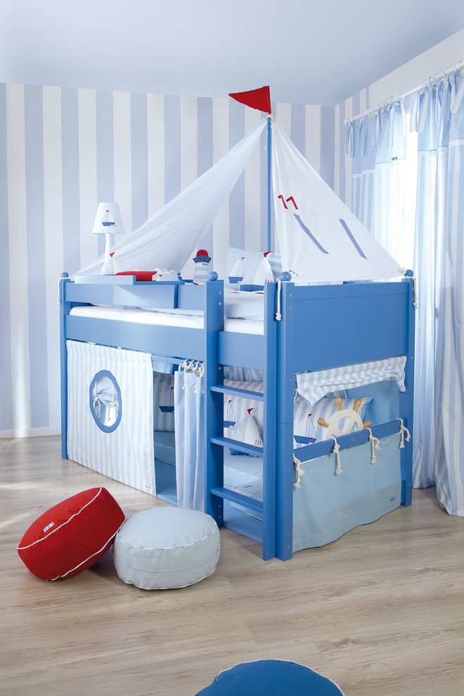 Awesome blue kids bed design