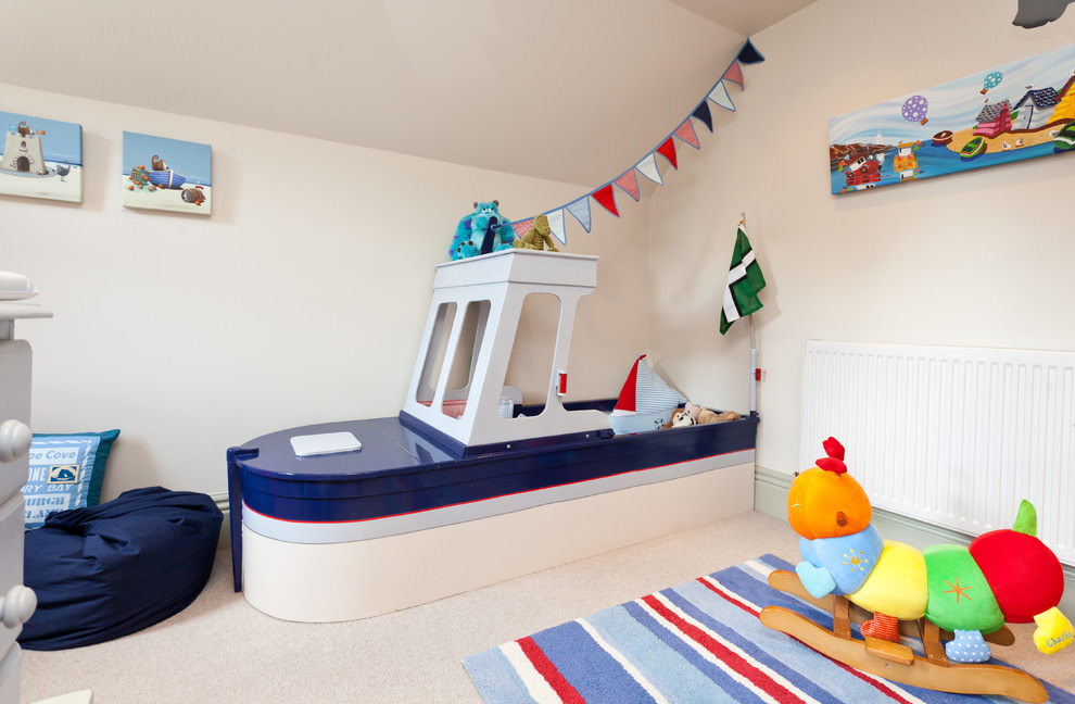 Ship style kids bed design