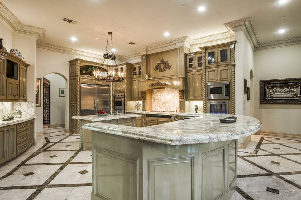 White Luxury Kitchen Islands Design