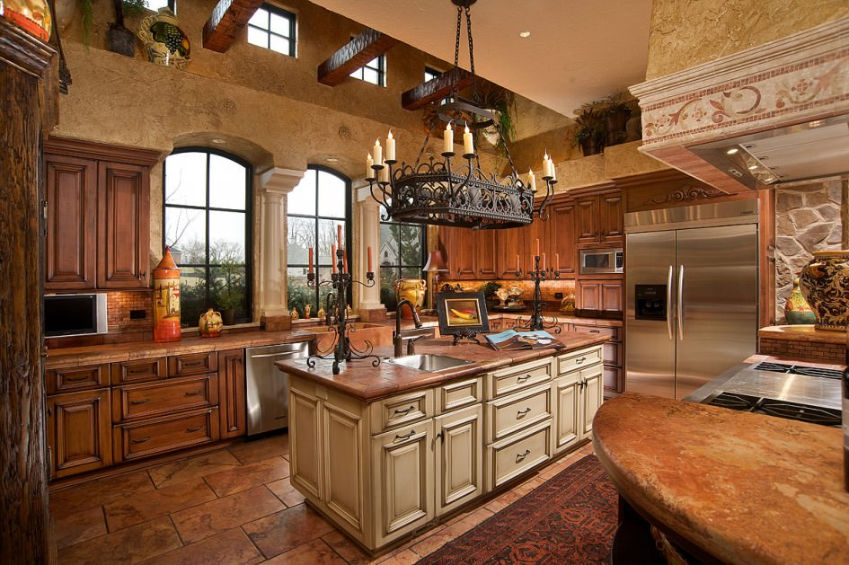 luxury tuscan kitchen
