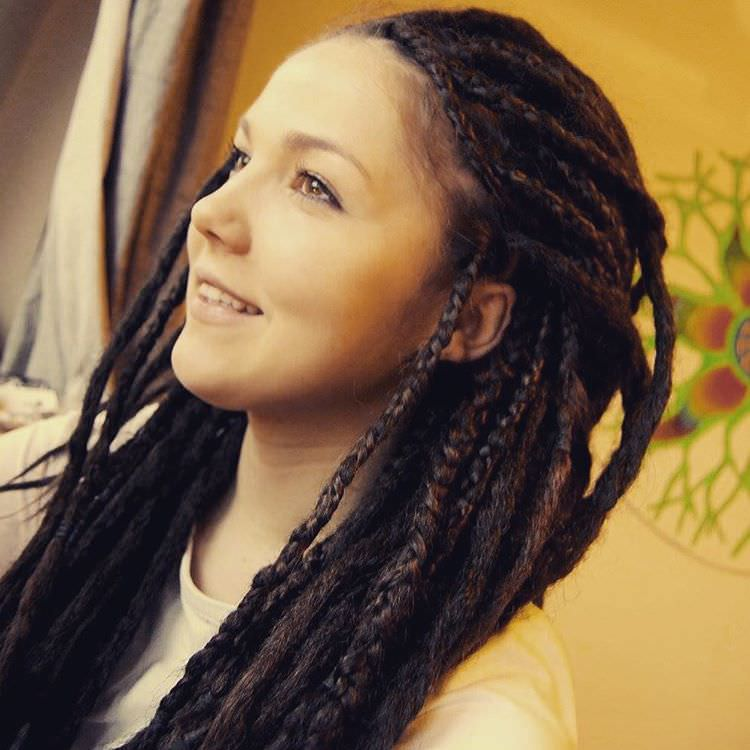 Simple Look Dreadlock Hairstyle