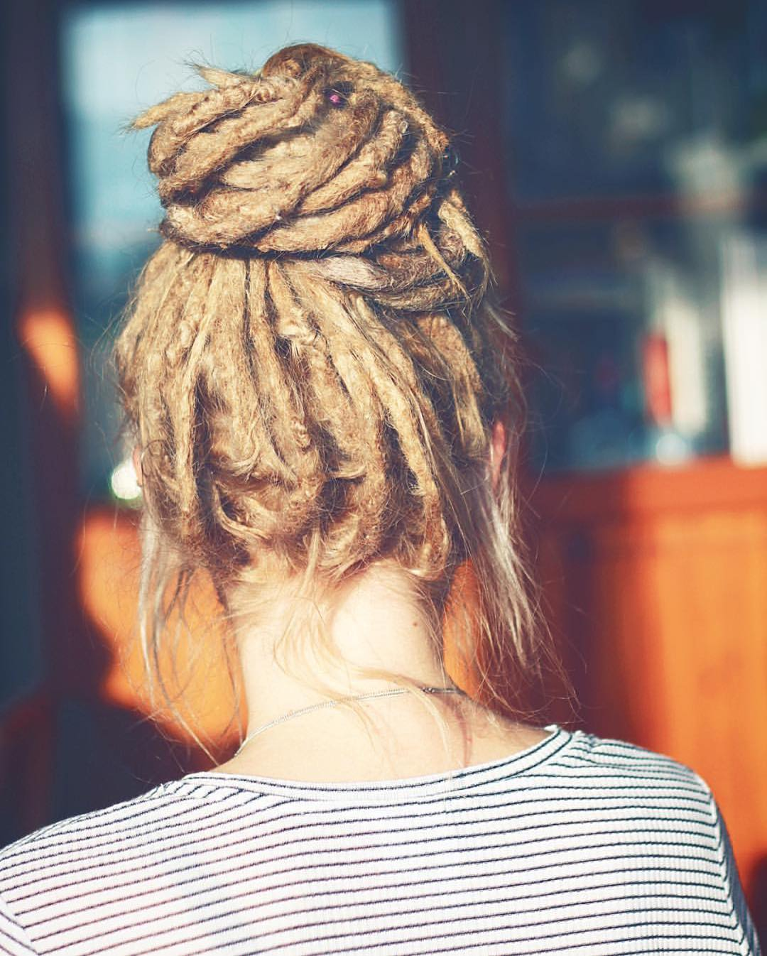 Cute Bun with Dreadlocks Hairstyle