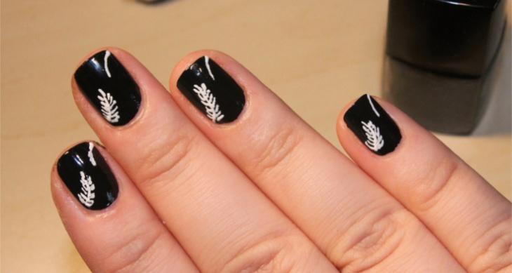 29 Black Acrylic Nail Art Designs Ideas Design Trends Premium