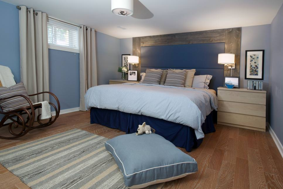 Transitional Design in Master Bedroom