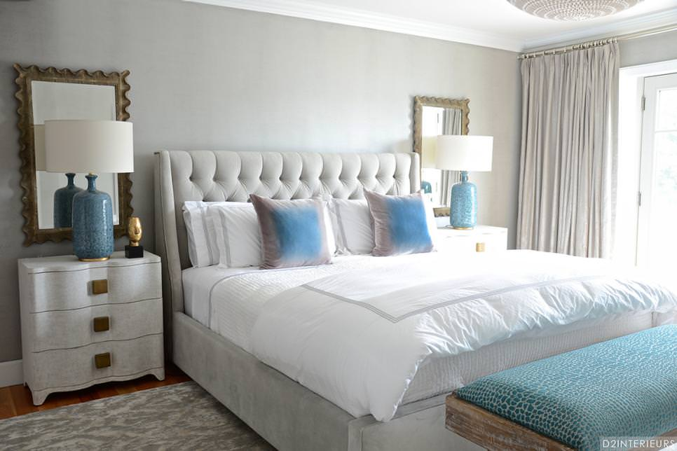 Transitional Bedroom Boasts Symmetrical Design