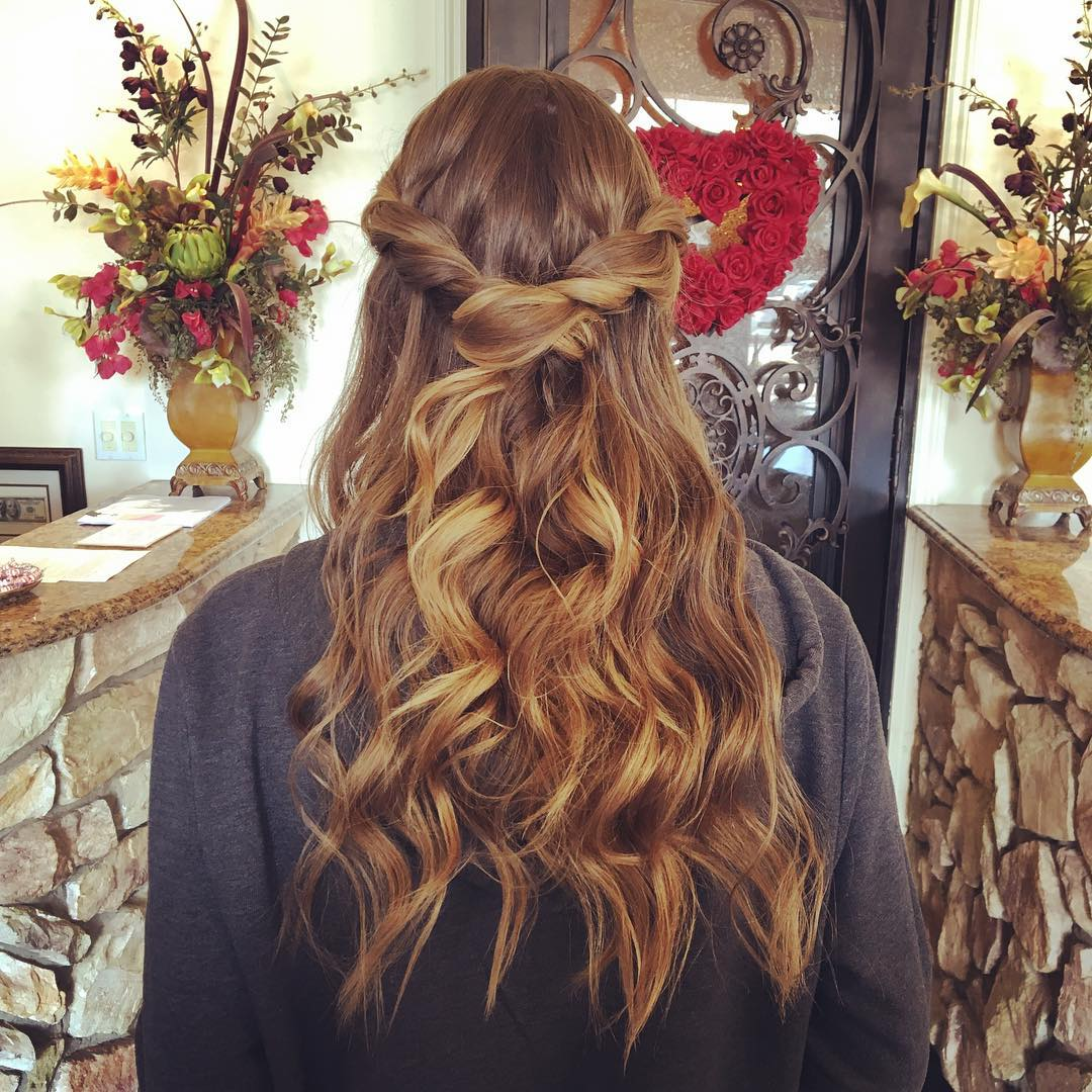 Simple-Formal Hairstyle for Long Hair