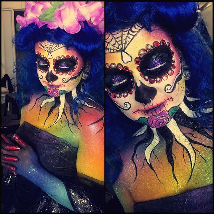 elegant halloween body painting