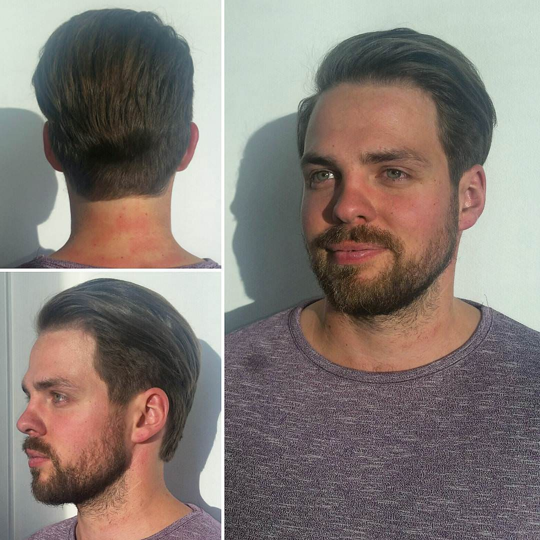 men neat hairstyle
