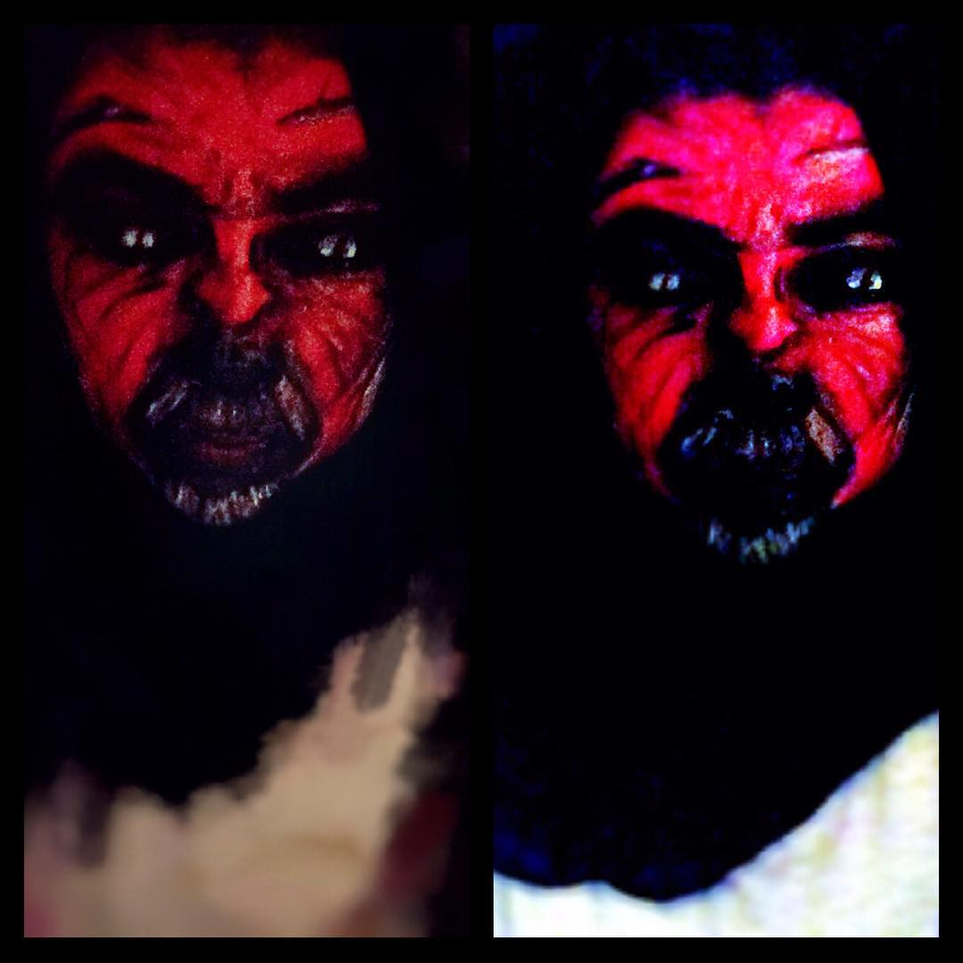 Halloween Red Painting