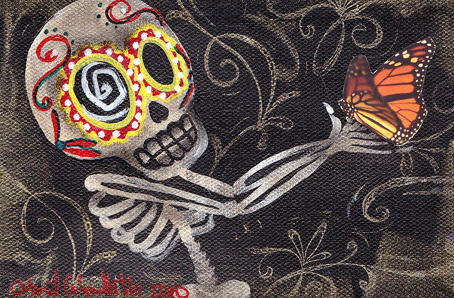 Holding Life Halloween Painting
