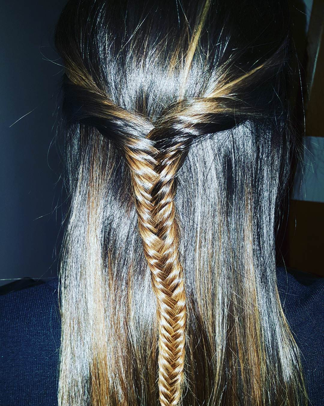 Half Fish Braid Hair