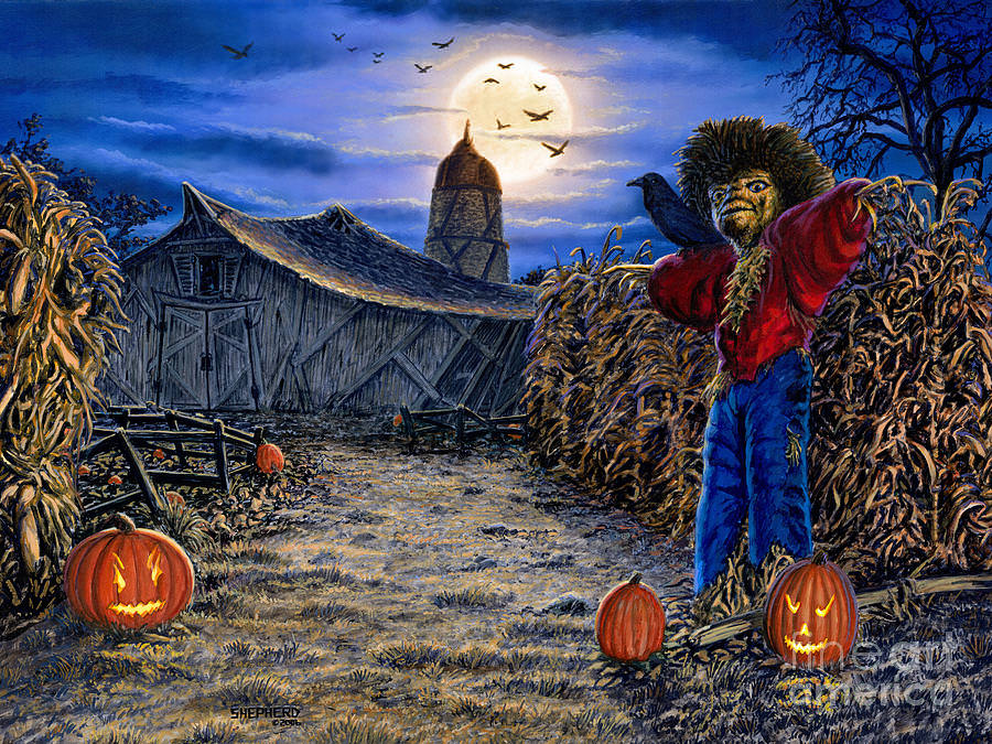 The Spooky Scarecrow Painting