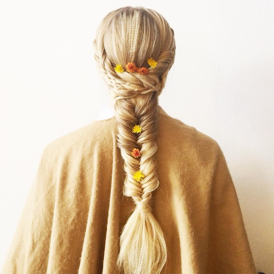 Golden White Braid Hair