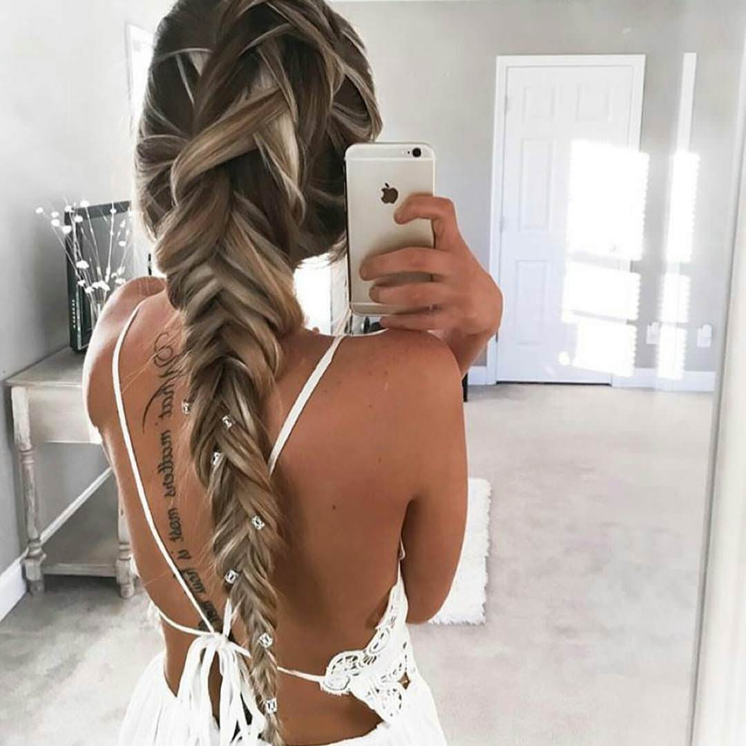 Multiple Long Braided Hairstyle