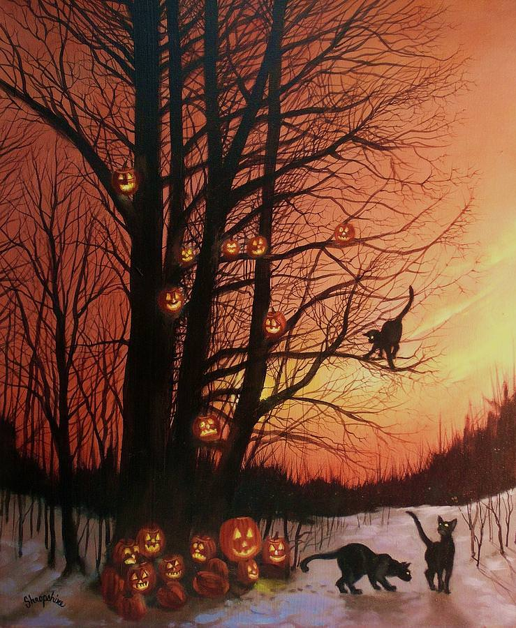 The Pumpkin Tree Painting