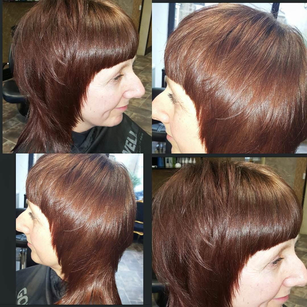 short choppy hair style