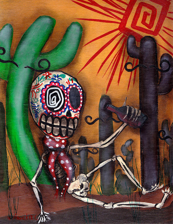 Siesta Halloween Painting