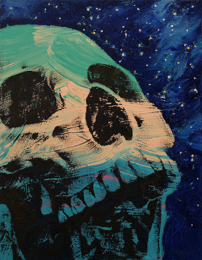zombie stars oil painting