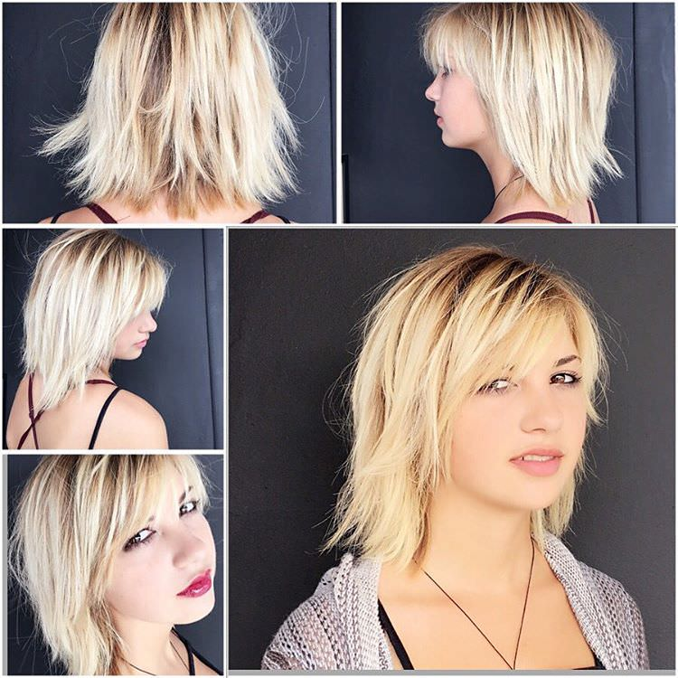 Women Short Choppy Hairstyle