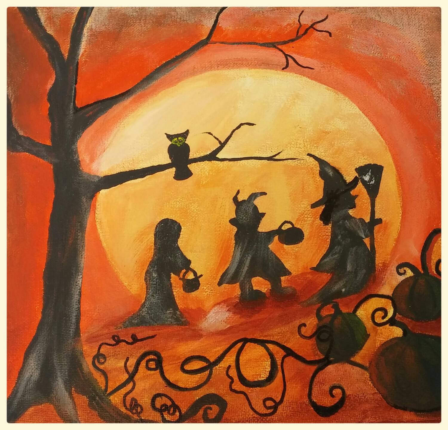 Fall Halloween Painting