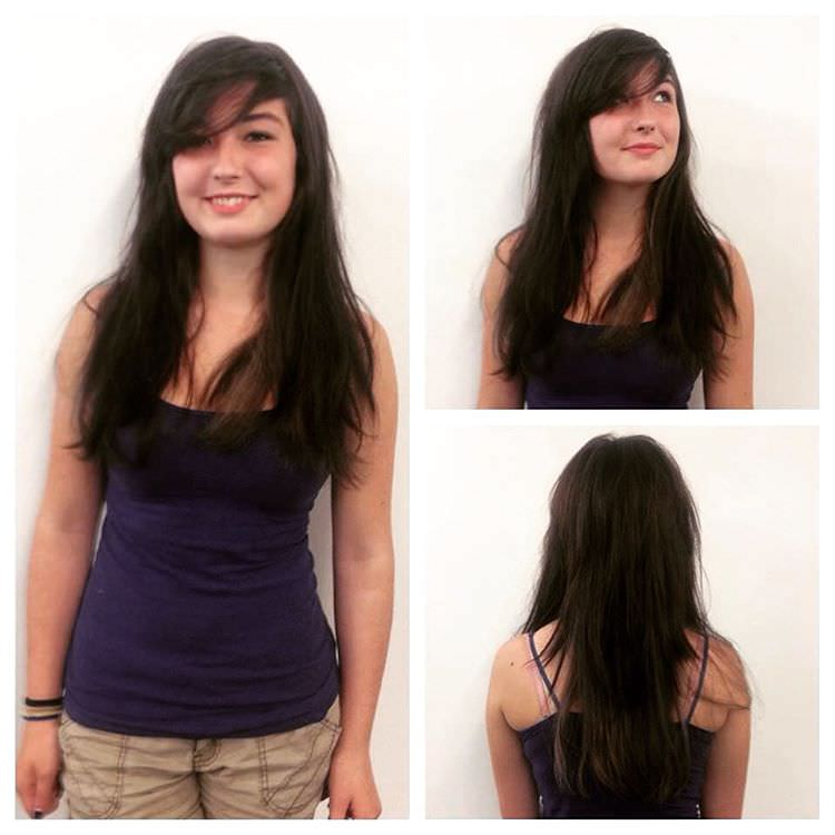 cute looking long layered hairstyle