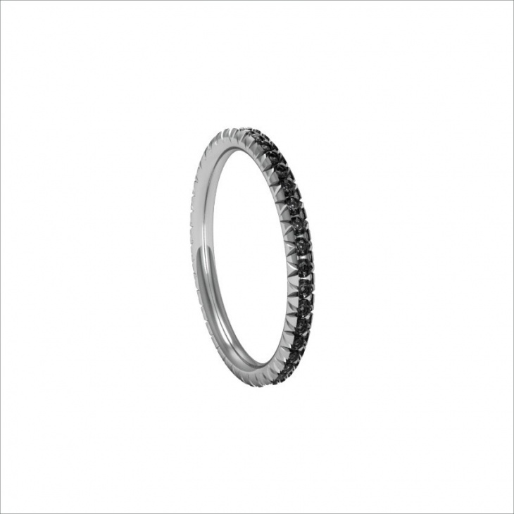 Ladies Black Diamond Ring