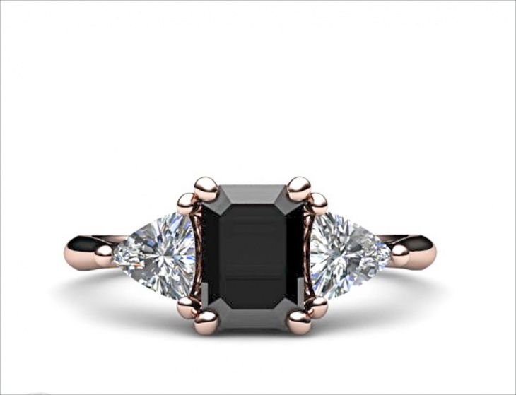 Stone Vintage Black Diamond Ring