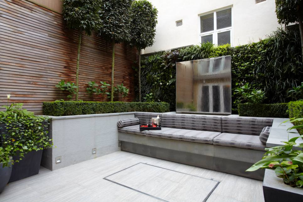 open air living room design