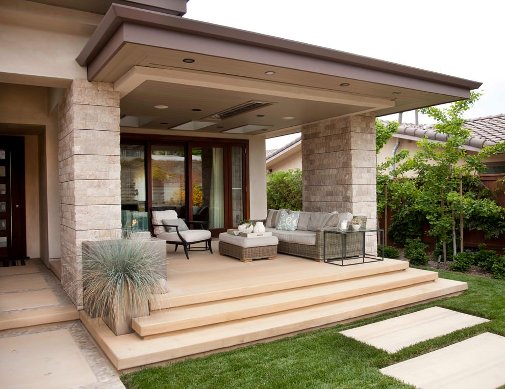 20 outdoor living room designs decorating ideas design for Back patio porch designs