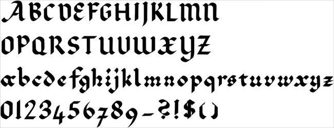 Lombardic Gothic font