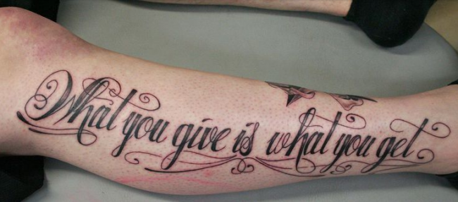 admirable calligraphy tattoo on arm e1460435030388
