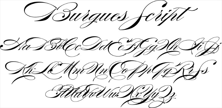 burgues script font for posters and banners