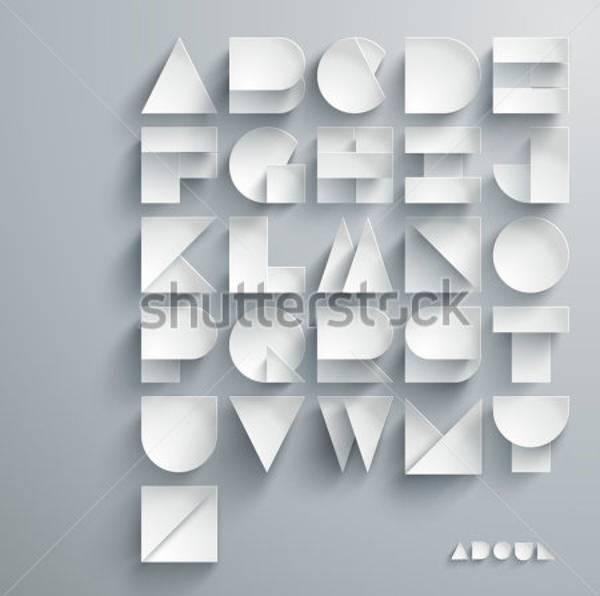 Vector Paper Graphic Alphabet Set