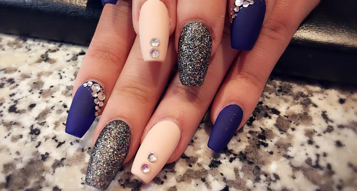 26 Long Acrylic Nail Art Designs Ideas Design Trends Premium