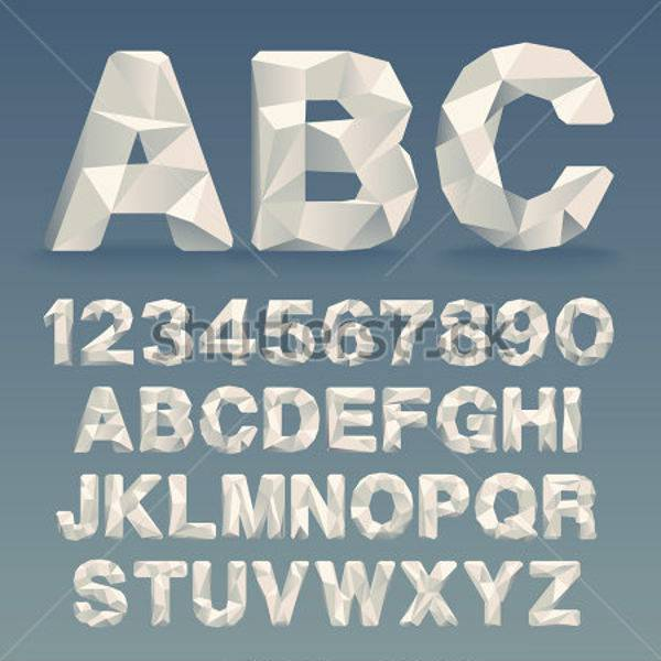 vector lowpoly font download