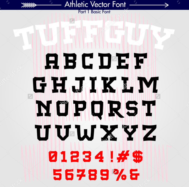 collegiate athletic font