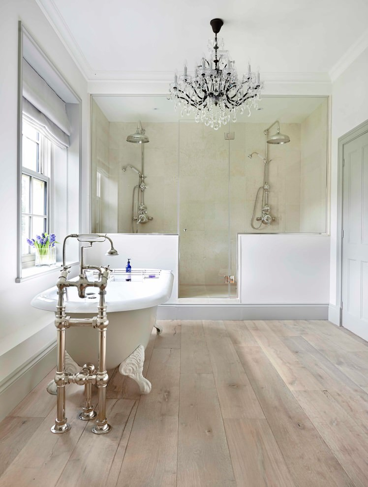 Wooden Bathroom Flooring Design
