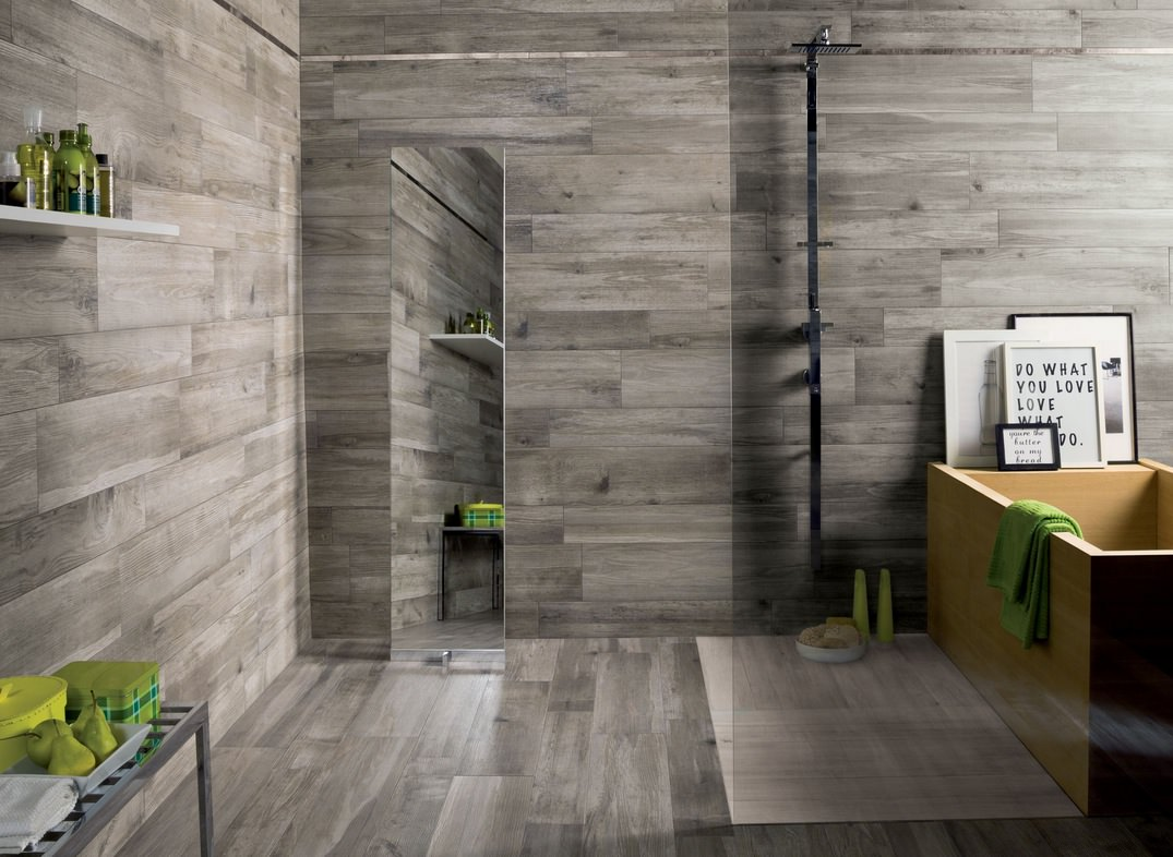 Dark Gray Bathroom Floor Design