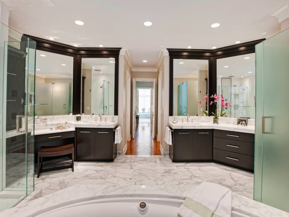 Transitional Bathroom Floor Design