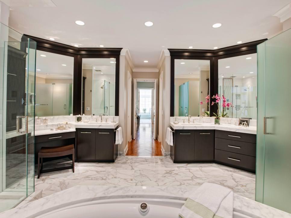 26 bathroom flooring designs bathroom designs design for Transitional bathroom design photos
