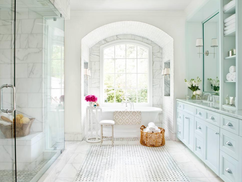 luxury bathroom marble floor design