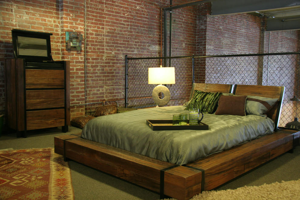 20 industrial bedroom designs decorating ideas design for Wood bed design 2016