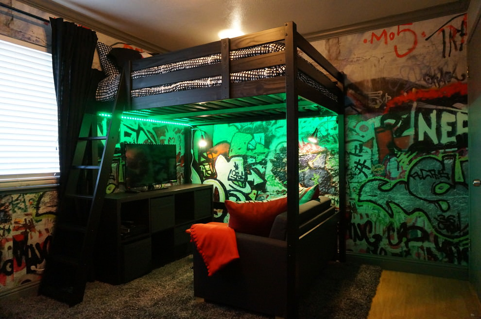 industrial teenage bedroom