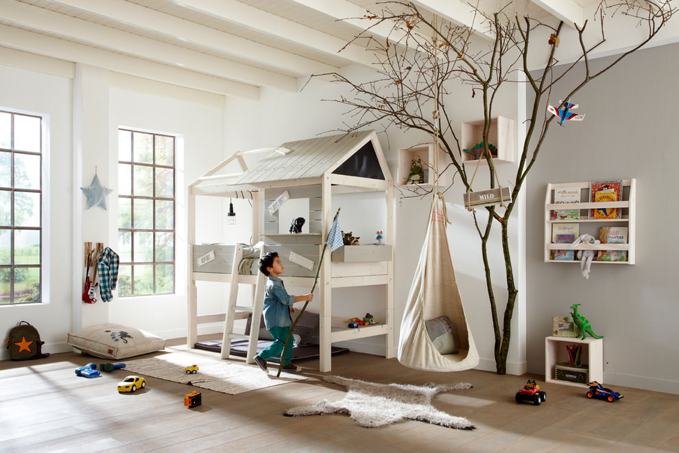 Cute Tree House Bed Design